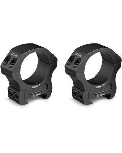 """Vortex Optics PR30-M Pro Ring 30mm Medium 1"""" Matte Black 7075 T6 Scope Rings Set"""