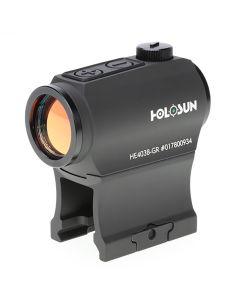 Holosun HE403B-GR Elite Green Dot Sight 1x Mount Shake Awake 2 MOA Reticle Black